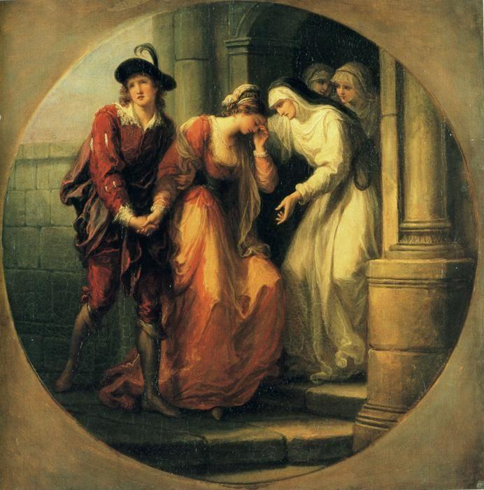 Angelica Kauffman. The Farewell of Abelard and Héloïse.