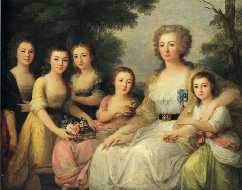 Angelica Kauffman. Portrait of Countess A. S. Protasova with Her Nieces.