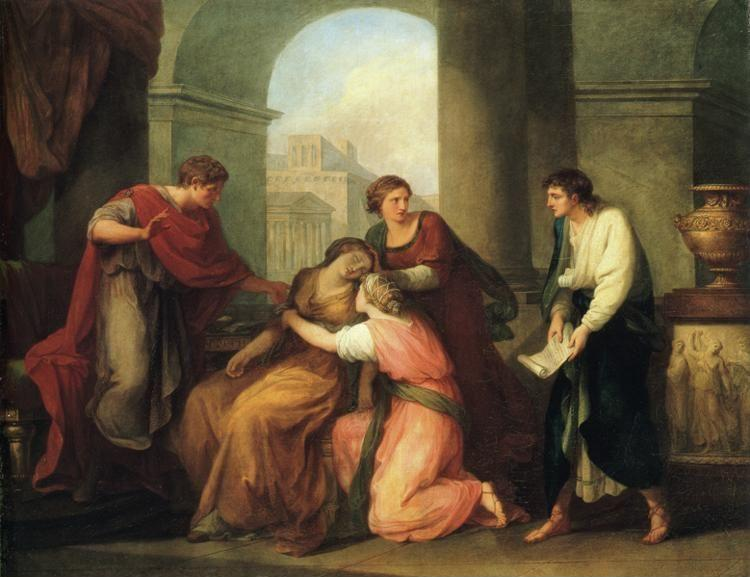 Angelica Kauffman. Virgil Reading the Aeneid to Augustus and Octavia.