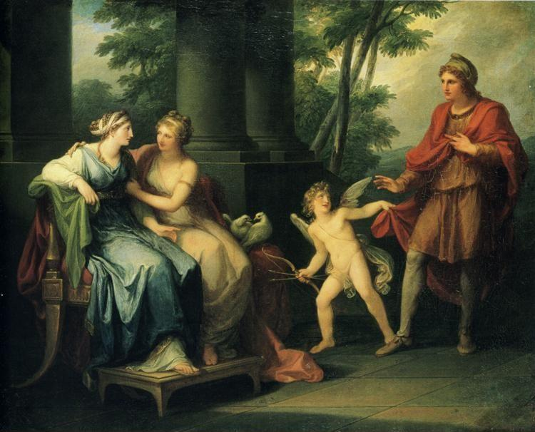 Angelica Kauffman. Venus Persuades Helen to Fall in Love with Paris.