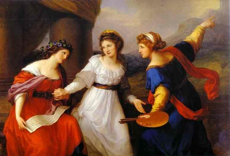 Angelica Kauffman. Self-Portrait Hesitating Between the Arts of Music and Painting.