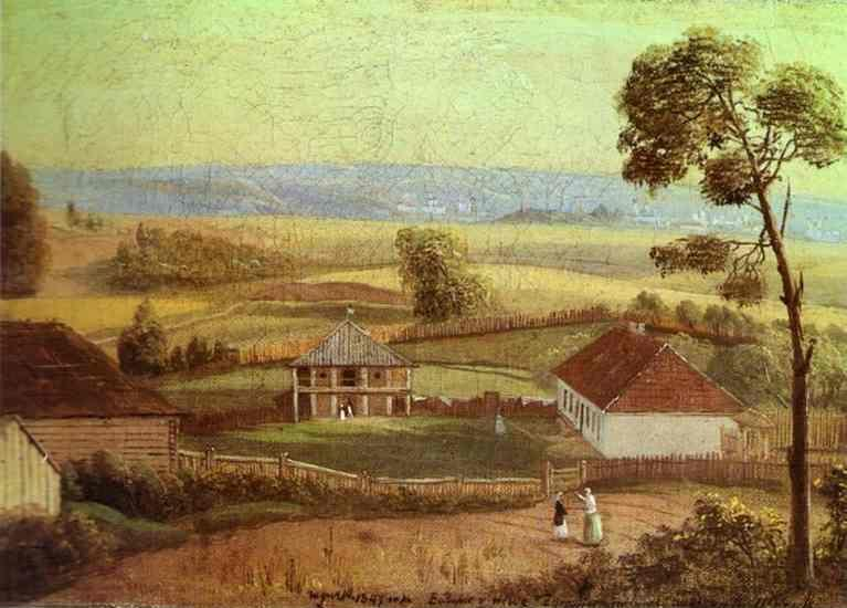 Ivan Khrutsky. View in Estate Zhirovitse.