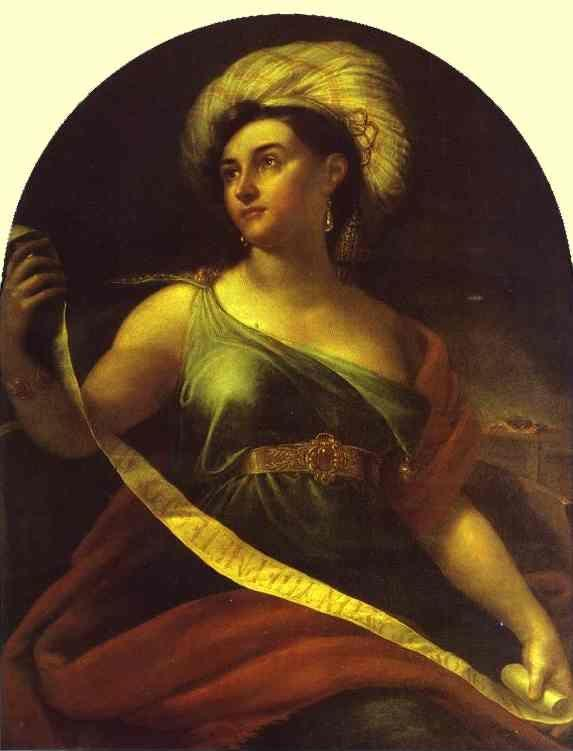 Orest Kiprensky. Sibyl of Delphi (Portrait of N. S. Semenova).