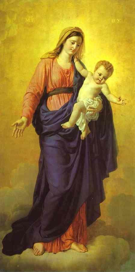 Orest Kiprensky. Madonna with the Child (Icon painted for the Kazan Cathedral).
