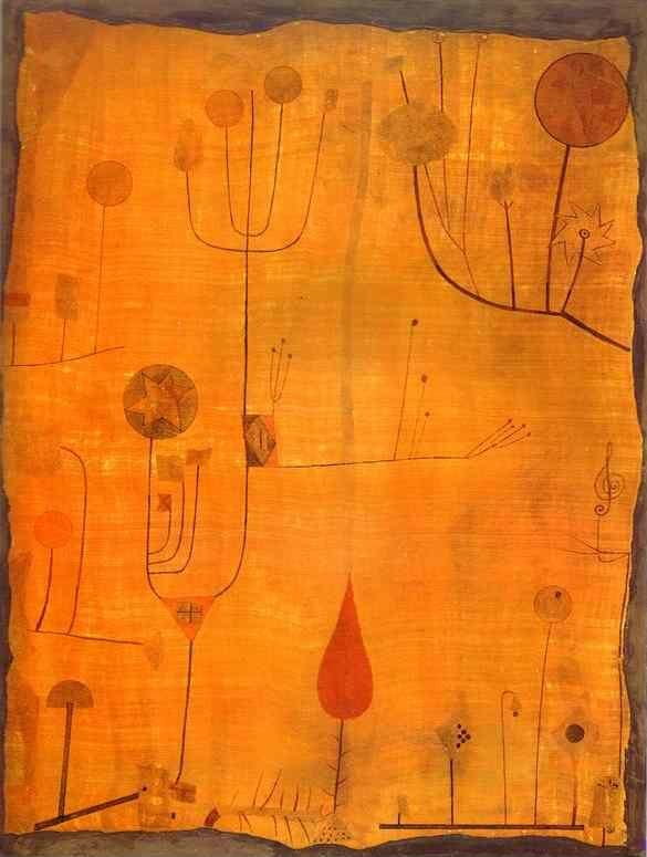 Paul Klee. Fruits on Red.