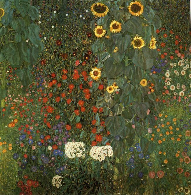 Gustav Klimt. Country Garden with Sunflowers.