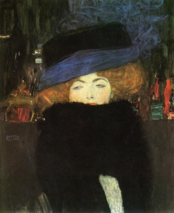 Gustav Klimt. Lady with Hat and Featherboa.
