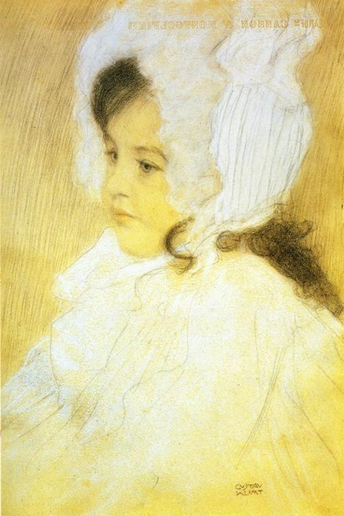 Gustav Klimt. Portrait of a Girl.