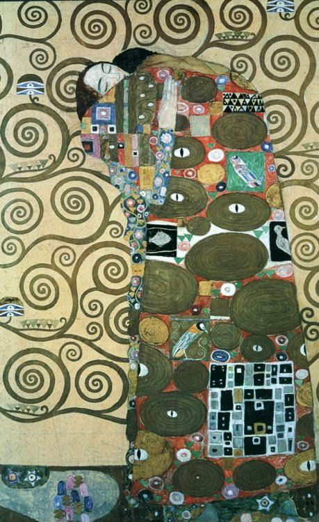 Gustav Klimt. Cartoon for the Frieze in the Villa Stoclet in Brussels: Fulfillment.