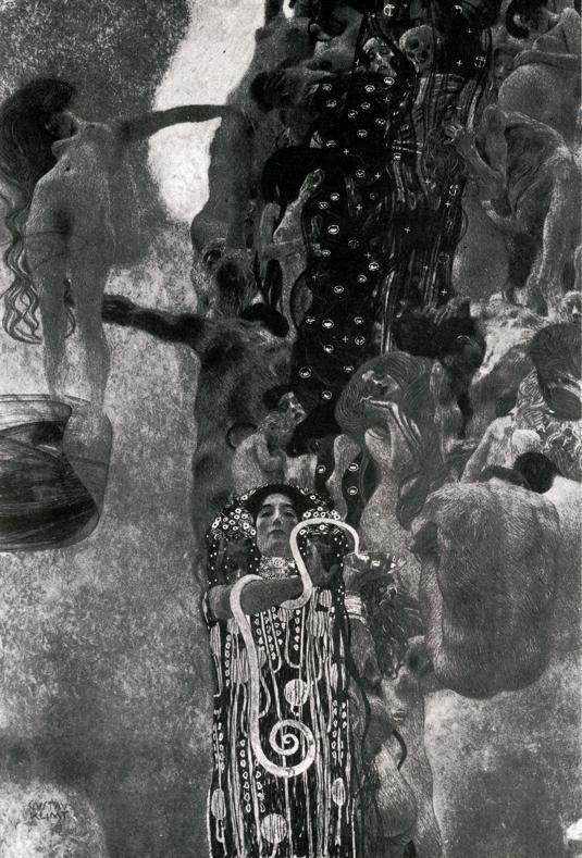 Gustav Klimt. Medicine. 1900-1907. Final state. Oil on canvas ...