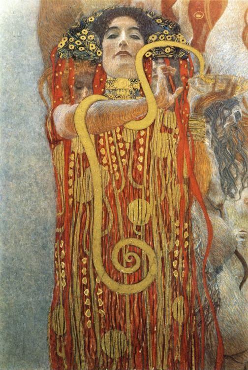 Gustav Klimt. Hygeia (detail of Medicine).
