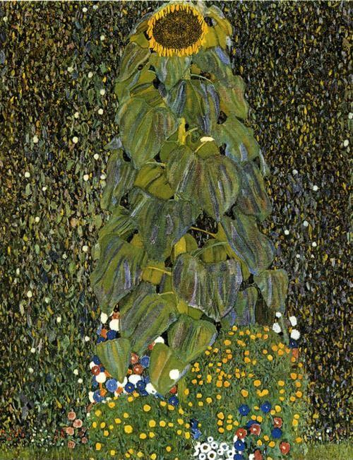 Gustav Klimt. The Sunflower. Detail.