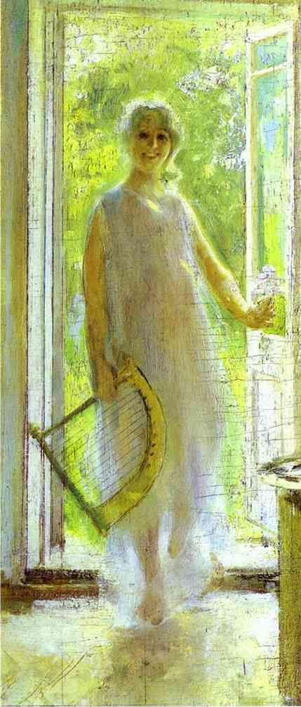 Constantin Korovin. Young Woman on the Threshold.