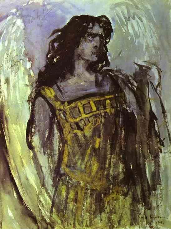 Constantin Korovin. Fedor Shalaypin as Demon in Rubinstein's opera Demon.