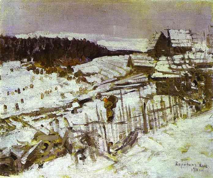 Constantin Korovin. Winter.