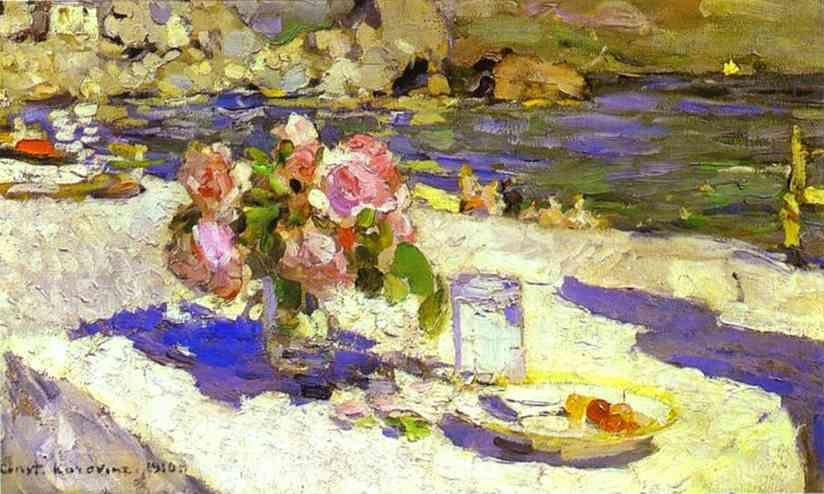 Constantin Korovin. On a Sea Shore.