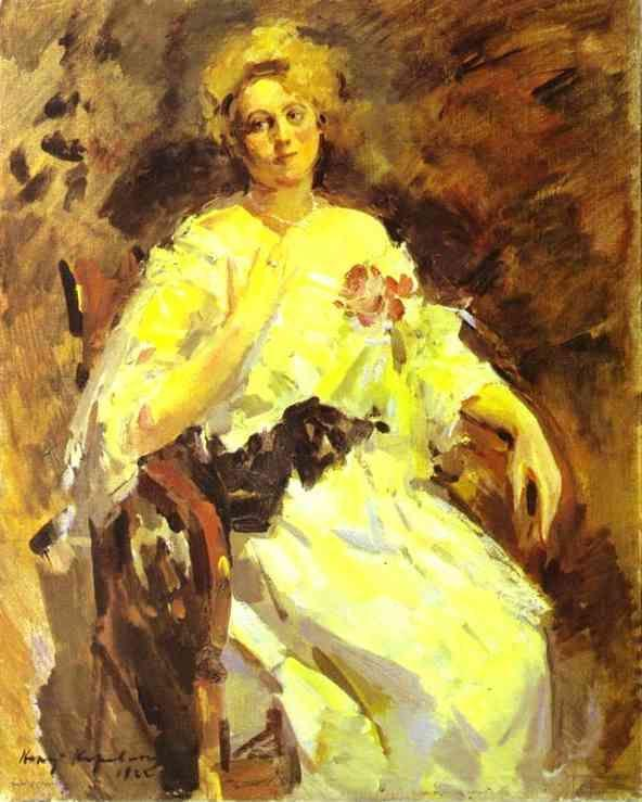 Constantin Korovin. Portrait of a Woman.