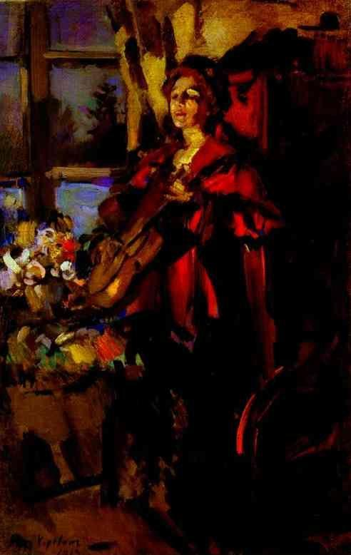 Constantin Korovin. Woman with Guitar.