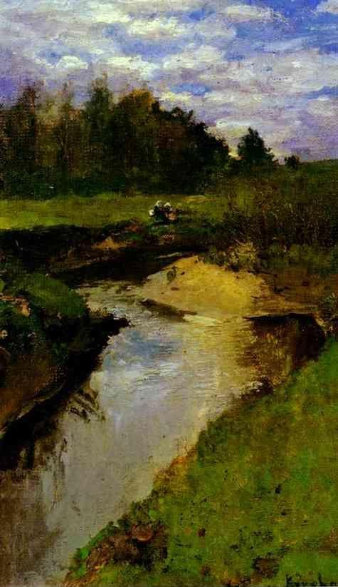 Constantin Korovin. The River Vorya at Abramtsevo.