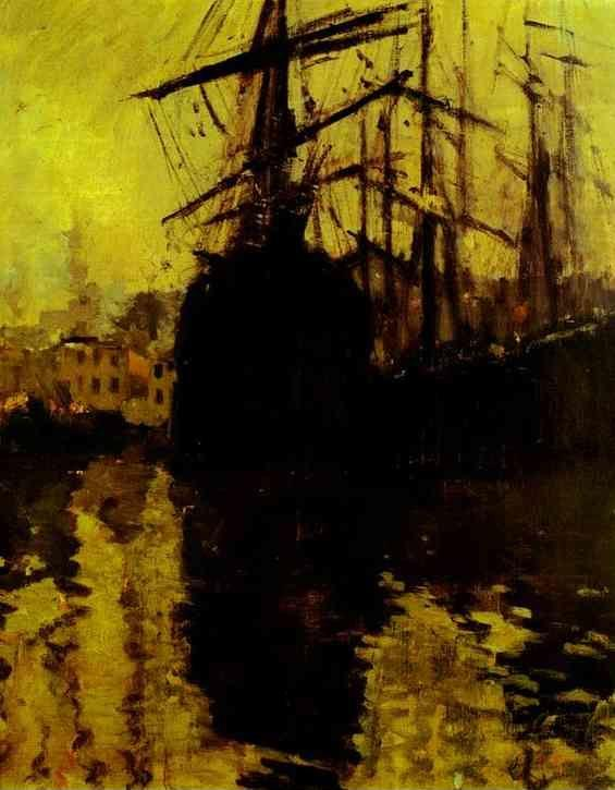 Constantin Korovin. The Port in Marseilles.