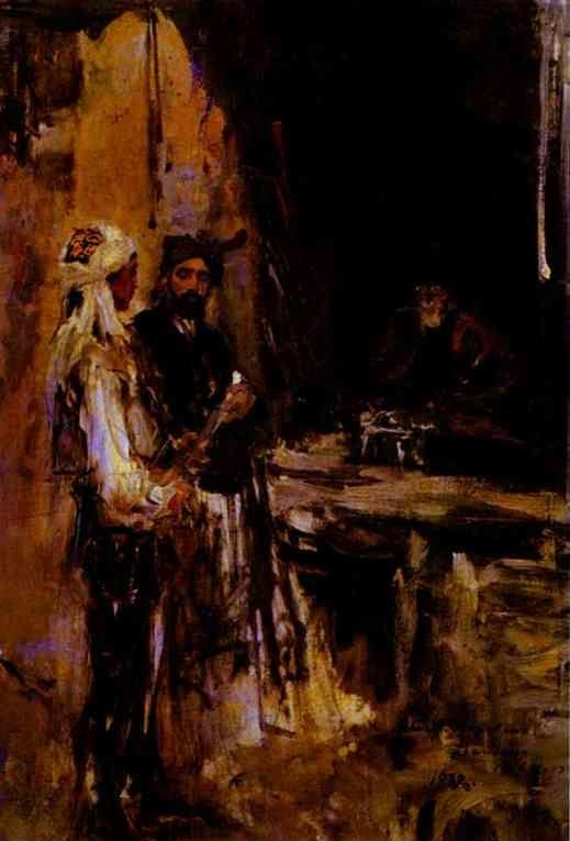 Constantin Korovin. Buying a Dagger.