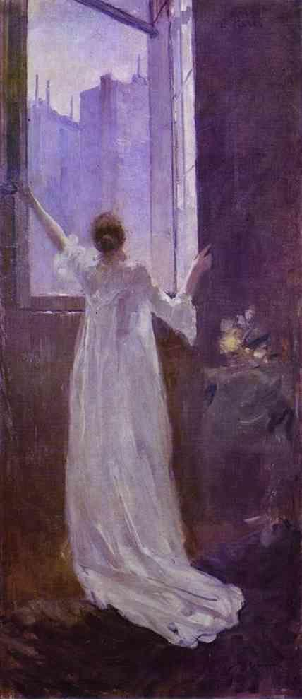 Constantin Korovin. At the Window.