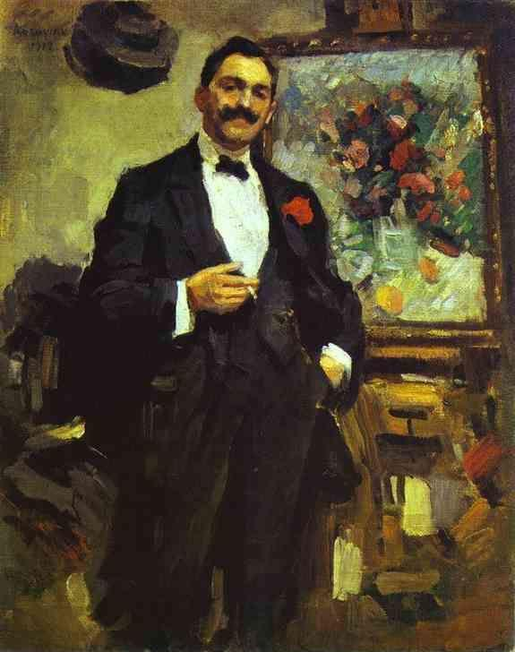 Constantin Korovin. Portrait of the Hungarian Artist Jozef Ripple-Ronai.