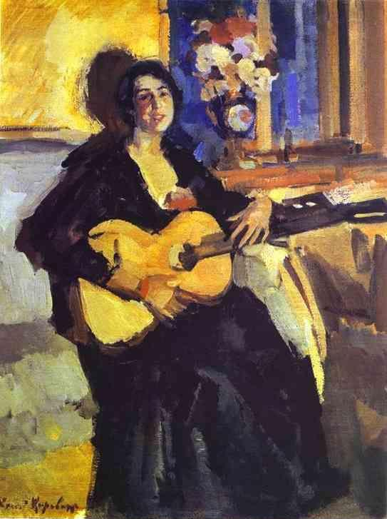 Constantin Korovin. Lady with Guitar.
