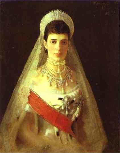 Ivan Kramskoy. Portrait of the Empress Maria Feodorovna.