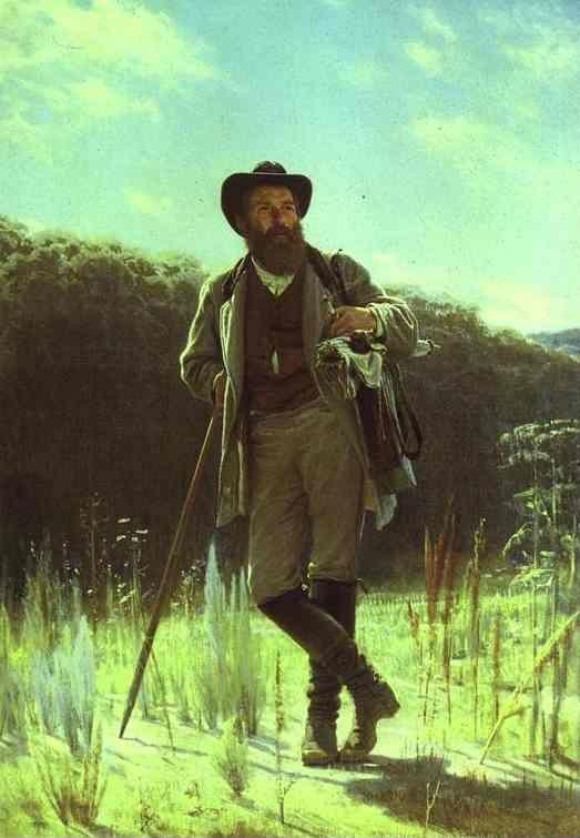 Ivan Kramskoy. Portrait of the Artist Ivan Shishkin.