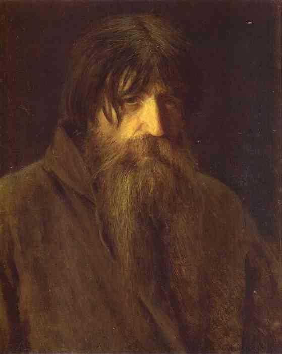 Ivan Kramskoy. Head of an Old Peasant.