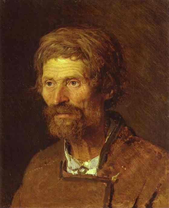 Ivan Kramskoy. Head of an Old Ukranian Peasant.