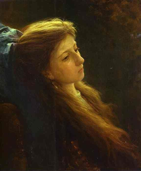 Ivan Kramskoy. Girl with a Tress.