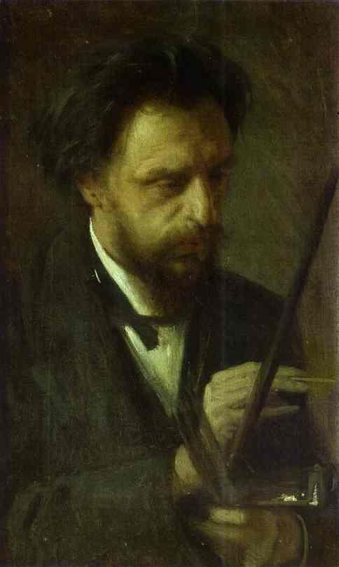 Ivan Kramskoy. Portrait of the Artist Grigory Myasoyedov.