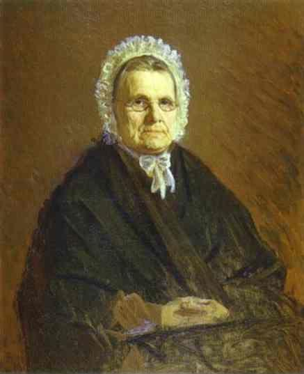 Ivan Kramskoy. Portrait of Theodora Saltykova, the Painter's Mother-in-Law.