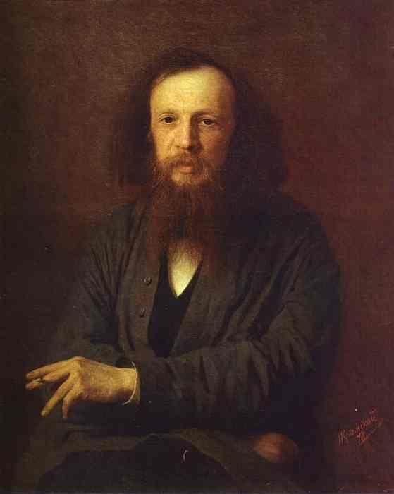 Ivan Kramskoy. Portrait of Dmitry Mendeleyev.