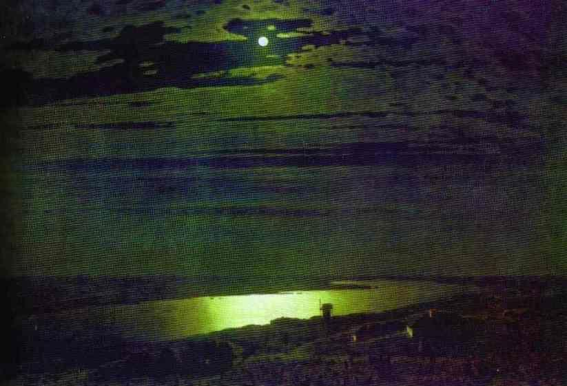 Arkhip Kuinji. Moonlight Night on Dnieper.