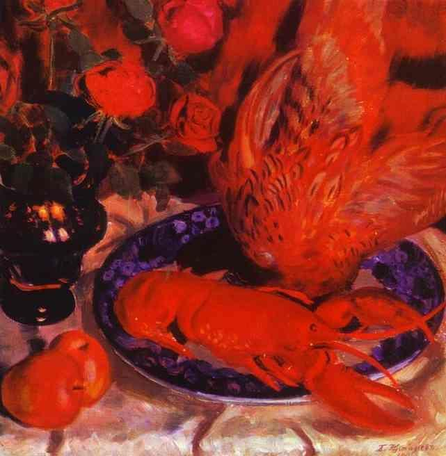 Boris Kustodiyev. Still-Life with Pheasant.