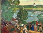 Boris Kustodiyev. Promenade Along the Volga.
