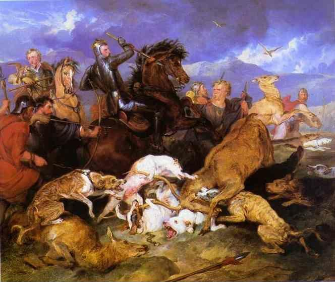 Sir Edwin Landseer. The Hunting of Chevy Chase.