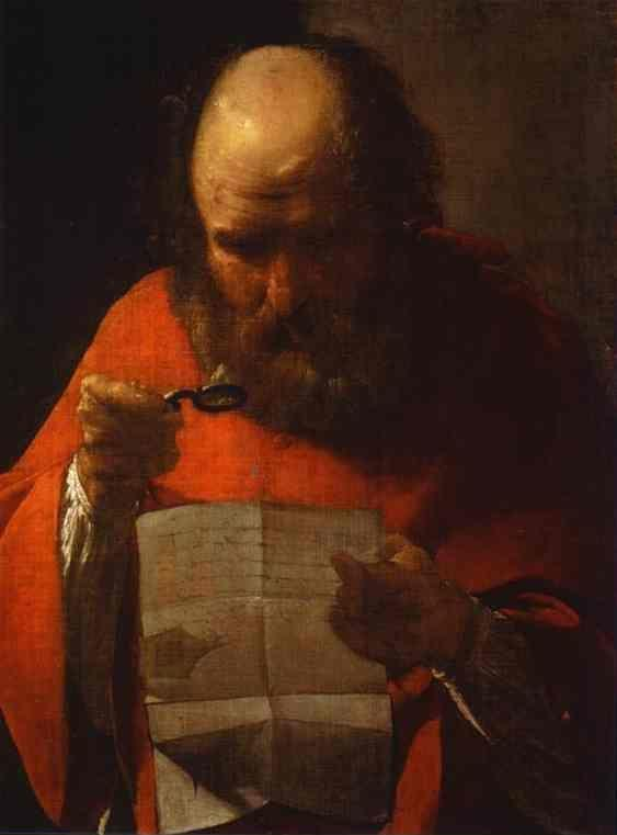 Georges de La Tour. St. Jerome Reading.