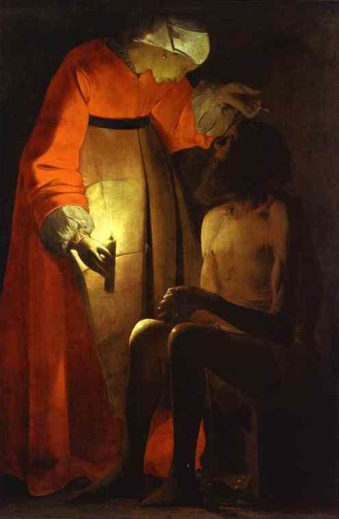 Georges de La Tour. Job and his Wife.
