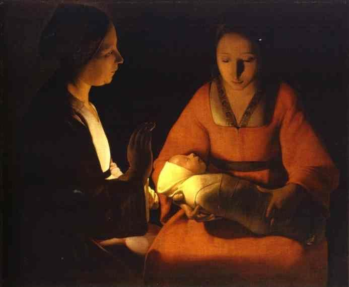 Georges de La Tour. The Newborn.