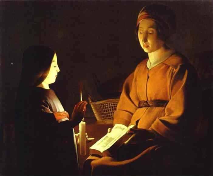 Georges de La Tour. Education of the Virgin.