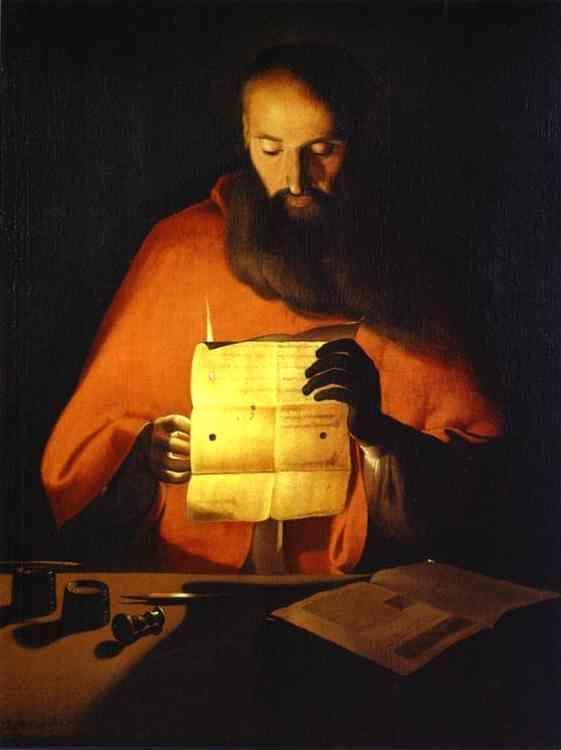 Georges De La Tour  St  Jerome Reading