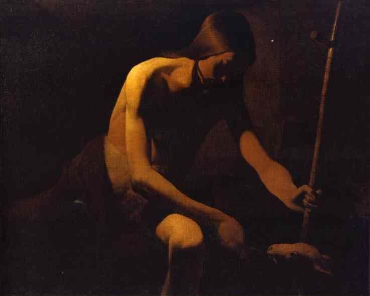 Georges de La Tour. St. John the Baptist in the Desert.