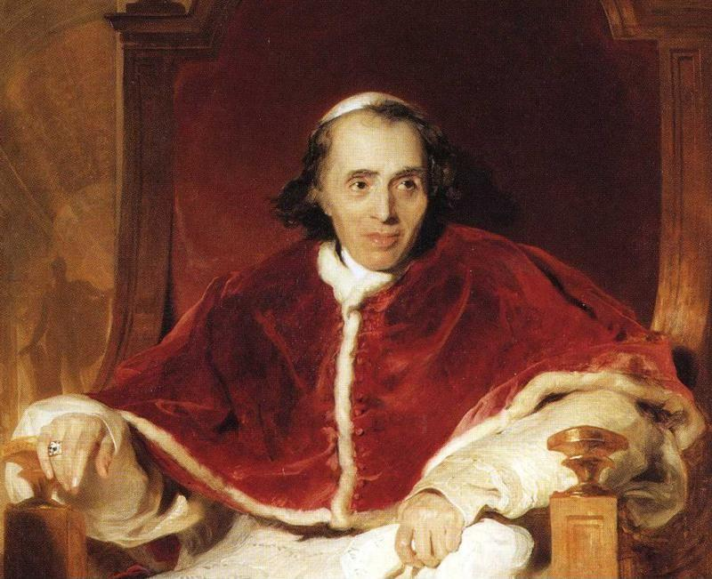 Sir Thomas Lawrence. Pope Pius VII (1742-1823). Detail.