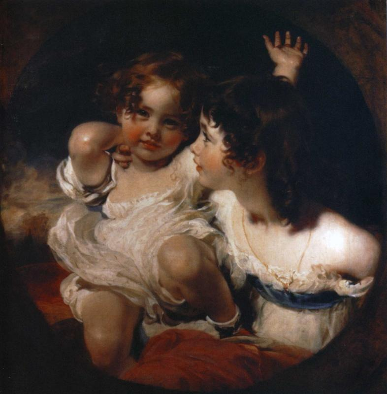 Sir Thomas Lawrence. The Calmady Children. (Emily Calmady, 1818-1906 and Laura Anne Calmady, 1820-94).