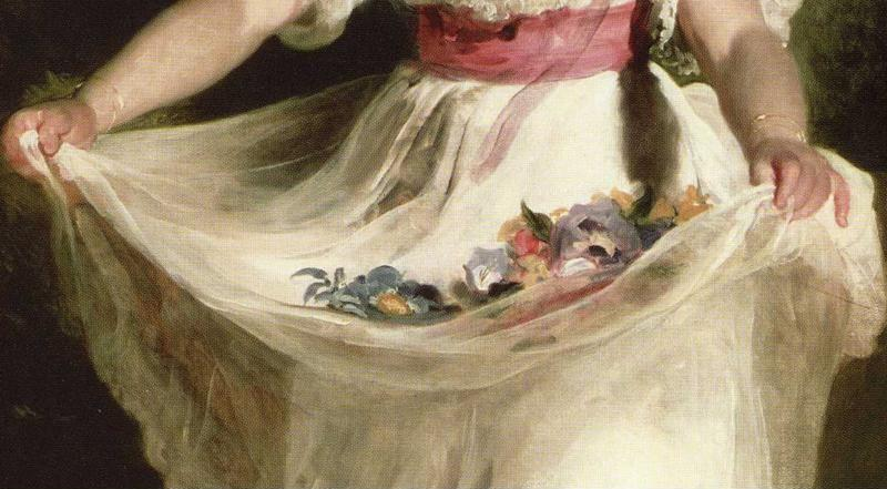 Sir Thomas Lawrence. Louisa Georgina Augusta Anne Murray (1822-1891). Detail.