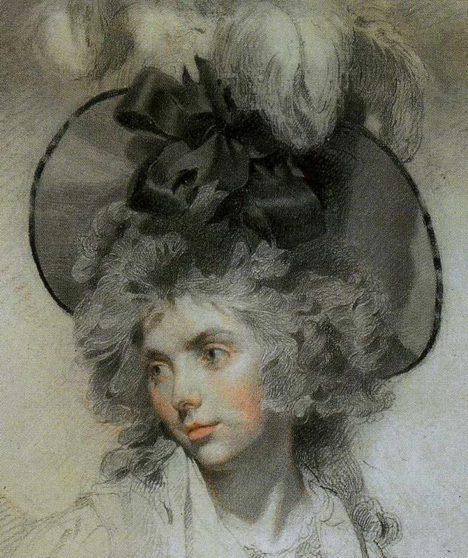 Sir Thomas Lawrence. Mrs Mary Hamilton. Detail.